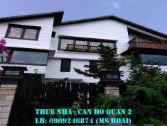 Cho thuê villa Đặng Hữu Phổ, Thảo Điền, DT 400m2, trệt, 2 lầu, sân thượng, hồ bơi, 6PN, giá 85tr/th