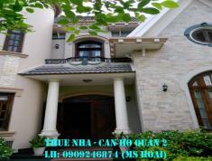 Cho thuê villa Quốc Hương, Thảo Điền, DT 280m2, hầm, trệt, 1 lầu, ST, 5PN, 58tr/th. LH 0909246874
