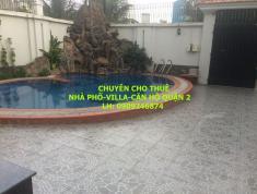 Cho thuê biệt thự Nguyễn Duy Hiệu 500m2, sân vườn, hồ bơi, 2 lầu, 6PN, giá 68tr/th. LH 0909246874