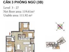 Bán căn hộ Đảo Kim Cương quận 2 tháp Bora Bora, kiểu 3B, căn B-10.10, giá 42,3 tr/m2 ( đã VAT)