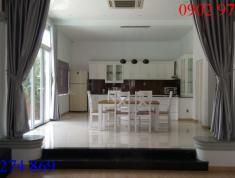 Cần cho thuê villa 10x20m, đường số 10, P.Thảo Điền, Q2, có hầm hồ bơi