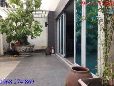 Cho thuê biệt thự (trệt 3 lầu) đường Nguyễn Bá Huân, P.Thảo Điền, Q2. Giá 67.2 triệu/tháng