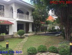 Cho thuê biệt thự 2 mặt tiền đường 44, P. Thảo Điền, Q2, có hồ bơi