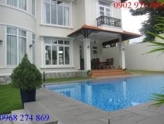 Cho thuê biệt thự hồ bơi sân vườn đường Nguyễn Văn Hưởng, P.Thảo Điền, Q2, full nội thất