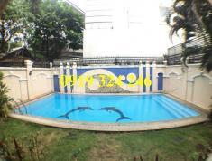 Cho thuê villa Thảo Điền 600m2 nội thất cơ bản có hồ bơi giá 3200$