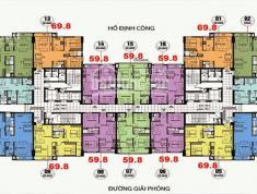 Chuyển công tác bán CC Định Công, căn 05, DT 69.8m2, giá 23tr/m2 LH Hoa 0934542259.