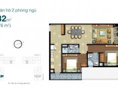 Căn hộ 2 phòng ngủ nội thất cơ bản, diện tích lớn, giá tốt tại Lexington Residence
