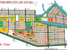 Bán đất sổ đỏ khu đô thị mới Cát Lái 153ha, lô C5-13