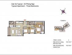 Bán căn hộ Đảo Kim Cương Q.2, tháp Bora Bora, 3 phòng ngủ, 142 m2, lầu 15, view sông SG, 46 tr/m2