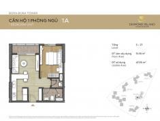 Bán căn hộ Đảo Kim Cương quận 2, tháp Bora Bora, căn 1 phòng ngủ, lầu 18, giá bán 2.85 tỷ (có VAT)