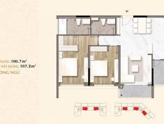 Bán căn hộ Sarica 2 phòng ngủ - khu đô thị Sala diện tích 107m2. View Bitexco