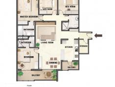 Cần tiền bán nhanh trong tháng căn hộ River Garden, Quận 2. Diện tích 156m2, 4pn, view sông