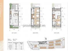 Bán lại căn nhà phố dự án Palm Residence. Nhà 2 mặt tiền đường, diện tích 6x17m, 1 trệt 2 lầu