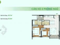 Bán căn hộ Sadora 2PN diện tích 92m2 view hồ Trung Tâm. Giá 6.5 tỷ