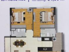 Cho thuê chung cư Bộ Công An quận 2, block A, căn góc 3PN, view Q1