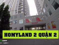 Bán 4 căn hộ cao cấp Homyland 2 (307 Nguyễn D Trinh Q2) 2-3PN, giá 1,8 tỷ/căn. LH 0903 82 4249 Vân