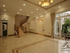 Cho thuê villa Thảo Điền 300m2, trệt, 2 lầu, 6PN, 5WC, nội thất cơ bản, giá 94 tr/th