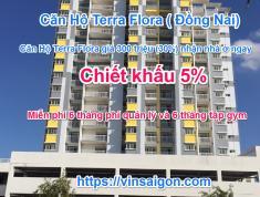 Căn hộ Terra Flora giá 300 triệu (30%) nhận nhà ở ngay nhận ngay Chiết khấu 5%.