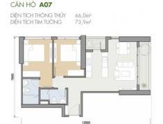 Bán căn hộ 2PN- 75m2 Masteri An Phú, căn A07 view hồ bơi, ban công rộng, giá 3.6 tỷ. LH 0332040992