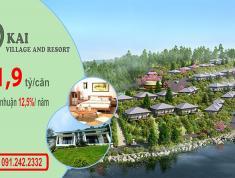 Siêu lợi nhuận 12,5 % / năm khi sở hữu biệt thự nghỉ dưỡng ven đô  Kai Village Hoà Bình
