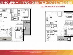 Chính chủ cần bán gấp căn hộ 2PN + 1WC ở Vinhomes Smart City Tầng 9.