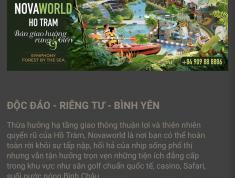Biệt thự biển Novaworld Hồ Tràm - tuyệt tác giữa Rừng & biển - chỉ 6 tỷ 1 căn 8x20  hotline 0916