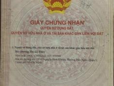 Chính chủ cần bán đất xã Hòa Phú Đông, huyện Củ Chi, Tp. Hồ Chí Minh