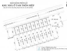 Đất thổ cư mặt tiền đường Tam Thôn Hiệp, 137m2 (5x27), sổ đỏ công chứng ngay, 1.4 tỷ
