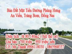 Bán Đất Mặt Tiền Đường Phùng Hưng - An Viễn - Trảng Bom - Đồng Nai
