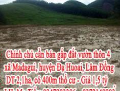 Chính chủ cần bán gấp đất vườn thôn 4 xã Madagui, huyện Đạ Huoai, Tỉnh Lâm Đồng