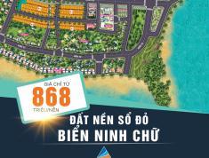 868tr/nền: Sở hữu ngay đất nền biển 2 mặt tiền sổ đỏ - Ninh Thuận - Tin được không? 0943.2888.79