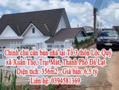 Chính chủ cần bán nhà tại Tổ 3 thôn Lộc Quý, xã Xuân Thọ, Trại Mát, Thành Phố Đà Lạt
