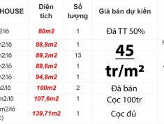 21 nền shophouse suất nội bộ dự án Nam Khang Residence 45tr/m2