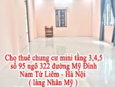 Cho thuê chung cư mini tầng 3,4,5 số 95 ngõ 322 đường Mỹ Đình - Nam Từ Liêm - Hà Nội ( làng Nhân