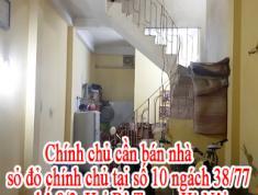 Chính chủ cần bán nhà sỏ đỏ chính chủ tại số 10 ngách 38/77 phố 8/3 Hai Bà Trưng Hà Nội