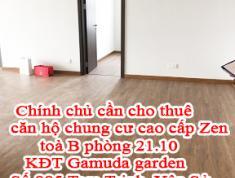 Chính chủ cần cho Thuê căn Hộ Chung Cư Cao Cấp Zen toà B phòng 21.10 KĐT Gamuda gader 885 Tam