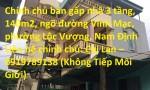 Chính chủ bán gấp nhà 3 tầng, 140m2, ngõ đường Vĩnh Mạc, phường Lộc Vượng, Nam Định