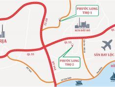Chính chủ cần bán đất ngay cổng ra đường Phạm Hùng kcn đất đỏ,tiếp giáp với ql55