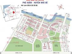 Thanh lý Căn Góc lô đất KDC Phú Xuân, Nhà Bè, giá 26tr,ngay cổng khu Chung Cư Trường cấp III,