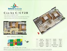Chính chủ bán căn CT3.2413 Gelexia Riverside 885 Tam Trinh, dt 69.4m2, thiết kế 2 phòng ngủ có nội