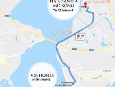 Hà Khánh A mở rộng, đất nền ven biển giá 22 triệu, cách Vinhomes Hạ Long 7 phút đi xe