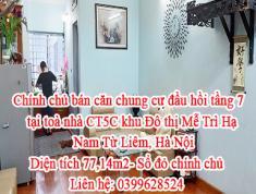 Chính chủ bán căn chung cư đầu hồi tầng 7 tại toà nhà CT5C khu Đô thị Mễ Trì Hạ, Nam Từ Liêm, Hà