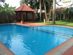 BÁN Biệt thự hồ bơi góc 2 MT khu Fideco phường Thảo Điền, Quận 2. DT: 974m2 - Giá: 171 tỷ